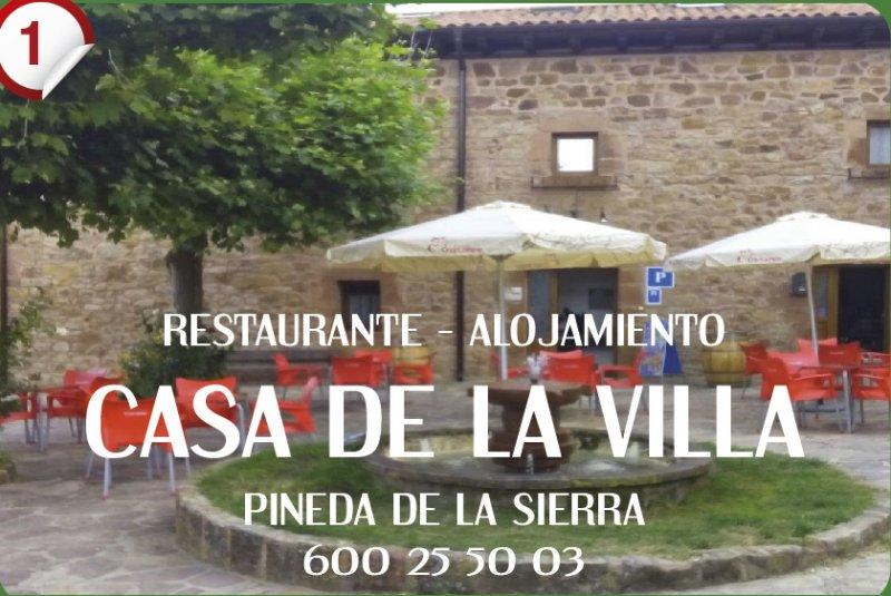 Casa de la villa d nde comer cotur sierra de la for Casa la villa